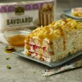 Orange & Mango Passionfruit Fridge Cake using Savoiardi